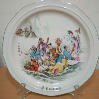 Decorative Painted 8 Fairies crossing the river