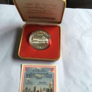 1987 Centenary of the Nat Museum $5 Silver Proof Coin