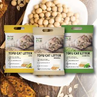 Nurture Pro Tofu Cat Litter 6L, 3bags