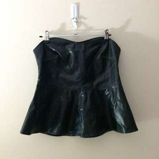 Leather Look Tube Top