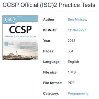 ISC2 Official CCSP Practice Tests