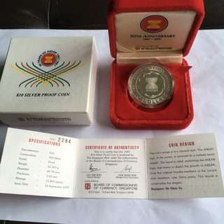 1997 30 Yrs of ASEAN $10 Silver Proof Coin