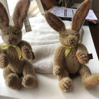 Pair of Russ Vintage edition Easter Bunnies