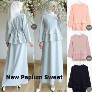 👛New peplum sweet(top)👛  Material : Wolfice Size: up to 7XL Price: $25