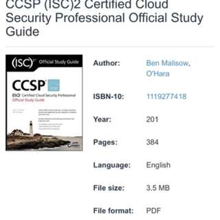 ISC2 Official CCSP Self Study Guide