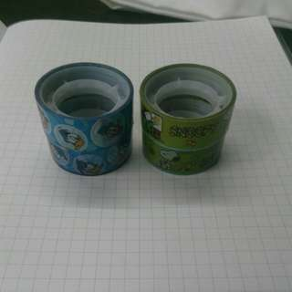 Snoopy and Donald Duck washi tape