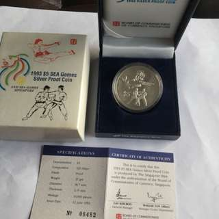 1993 XVII SEA Games $5 Silver Proof Coin