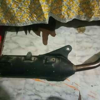 Power pipe muffler for mio