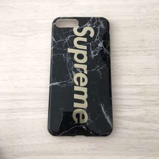 IPhone 7/8 Plus Silicone Case GLOSSY SUPREME BLACK MARBLE