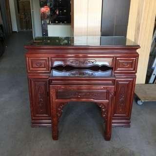 二手家具全省收購(大台北冠均 五股店)二手貨中心--木製佛桌 神桌 上下桌FD-011509