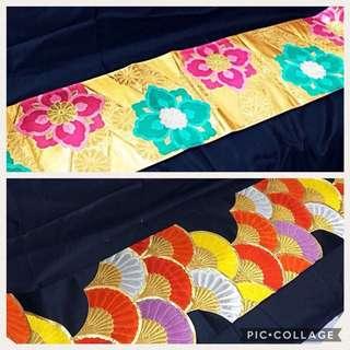 Japanese Kimono Obi table runner / Sofa thtow