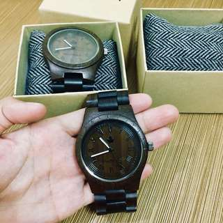 2 WOODEN WATCHES for ONLY 2700!!! W/ box!