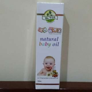 Dr. VCO Natural Baby Oil with Chamomile and Almond Oil