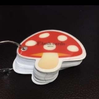 (包郵)草菇flash card卡紙(購自日本)