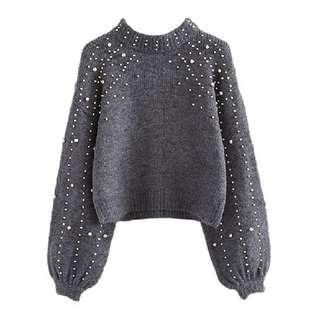 Like ZARA Pearl Sweater / Top