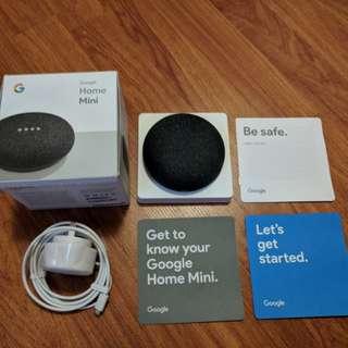 Google Home Mini - Like new! Comes with Original Box Accessories