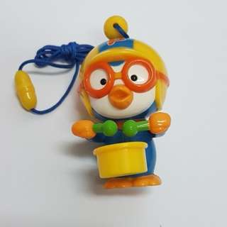 [NEW] PORORO FIGURINE TOY WITH DRUM & STRAP [ORIGINAL FROM KOREA]