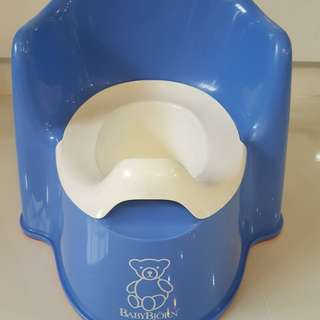 BabyBjorn blue potty chair