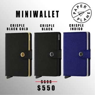 荷蘭SECRID 智能防盜Miniwallet真皮銀包 - 黑金/ 黑/ 藍配色 Crisple Black Gold/ Black/ Indigo(金/ 銀鋁)