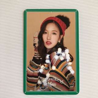 Twice merry and happy Mina special photo card merry&happy