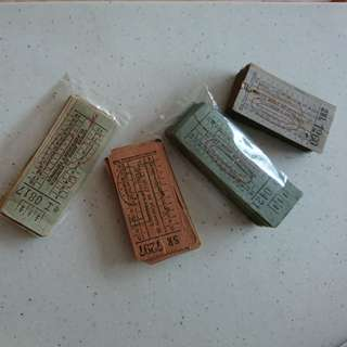 Singapore Traction Co. 1950s\60s bus tickets $8ea