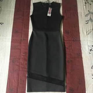 REPRICED!!!! F&F Black Mesh Bodycon Dress