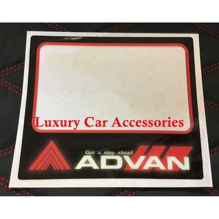 ADVAN CAR ROADTAX STICKER ROADTAX