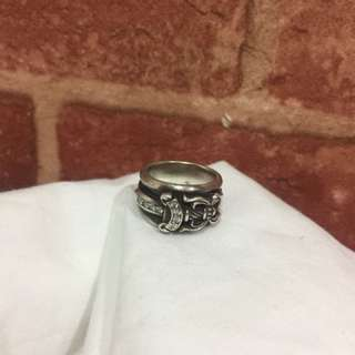 Chrome Hearts Dagger ring with diamond