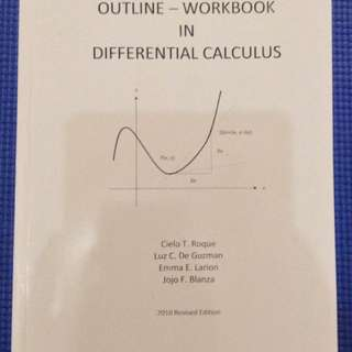 Outline - Workbook in Differential Calculus 2010 Edition