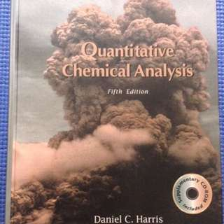 Quantitative Chemical Analysis by Daniel Harris