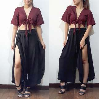 Boho Pants with sided slit
