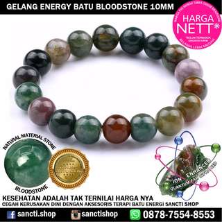 GELANG BATU ENERGY BLOODSTONE 9-10MM