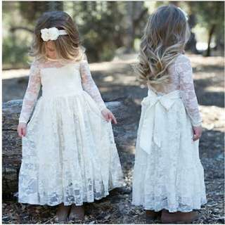 PO: White Lace Dress (2-7y)