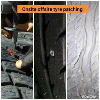 Tyre patching, tyre repair