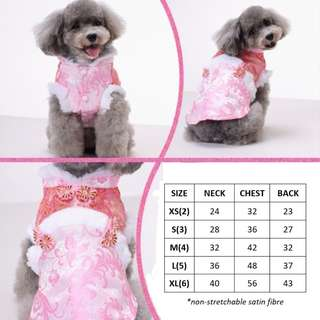 CHINESE NEW YEAR PET DOG CAT RABBIT CLOTHE TANG SUIT