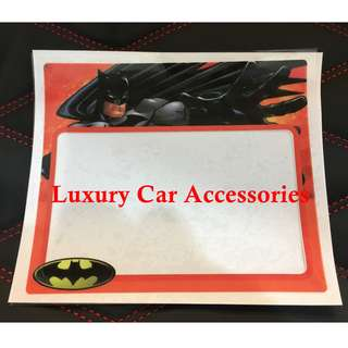 BATMAN CAR ROADTAX STICKER ROADTAX