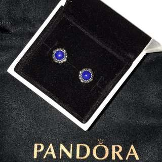 PANDORA September birthstone earrings