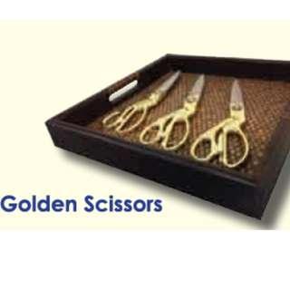 Golden Scissor for ceremonry