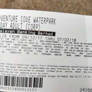 adventure cove waterpark ticket