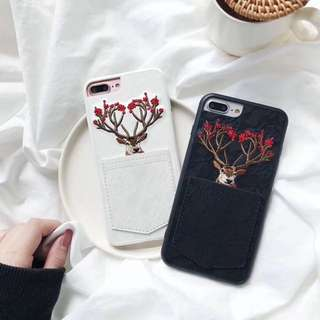 Casing Handphone - Case Retro Embroidery Deer