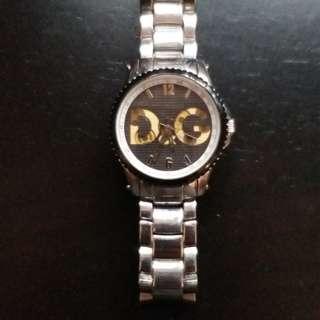 D&G 鋼帶錶 手錶 銀色