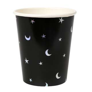 Black Star and Moon Cups (Set of 8)