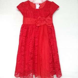 Children's red dress