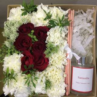 Flower box with personalized diffuser