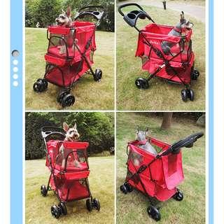 Foldable dual Basket Pets Stroller