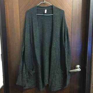 🔹gap黑色長板開襟外套
