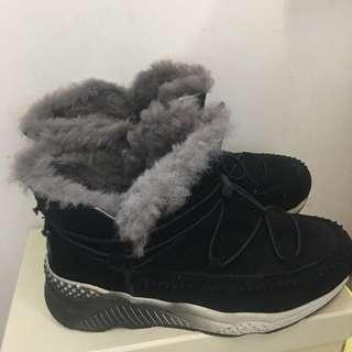 🚚 🅱️羊毛雪地靴23.5/37