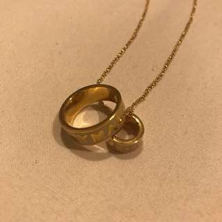 Marc Jacobs ring and necklace set