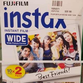 Fujifilm Instax Wide Plain Film - 40 films