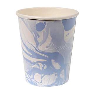 Marble Cups (Set of 8) – Blue